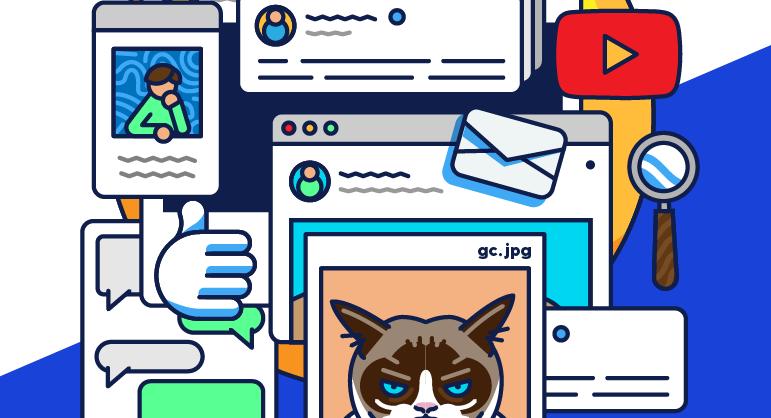 Illustration of a cat internet image