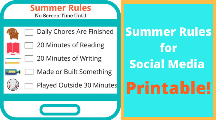 photograph about Screen Time Rules Printable titled Summer months Pointers for Social Media - Bark