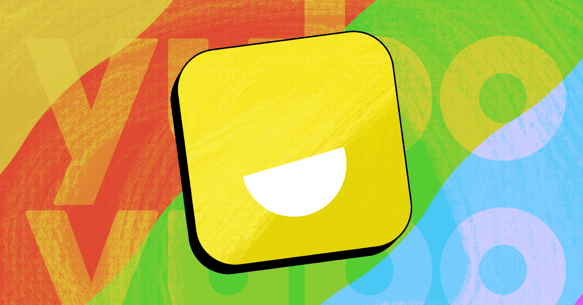 The Yubo logo against a rainbow background